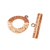 Copper Plate Toggle Clasp - Textured Ring