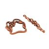 Copper Plate Toggle Clasp - Victorian Twist