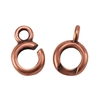 Copper Plate Hook & Eye Clasp - Slip Lock Medium Mini