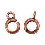 Copper Plate Hook & Eye Clasp - Slip Lock Medium Mini - 1 Set