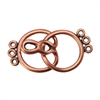 Copper Plate Hook & Eye Clasp - Round 3 Strand