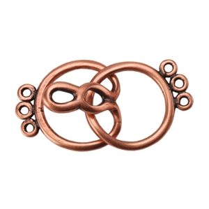 Copper Plate Hook & Eye Clasp - Round 3 Strand - 1 Set