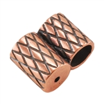 Copper Plate Slide Ends - Double Strand 4mm Pkg - 2