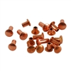 "Copper Plate Miniature Rivet - 1/16"" Assorted Short Shaft Lengths"