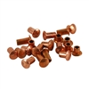 "Copper Plate Miniature Rivet - 3/32"" Assorted Short Shaft Lengths"