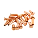 "Copper Plate Miniature Rivet - 3/32"" Assorted Medium Shaft Lengths Pkg - 125"