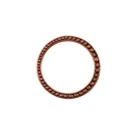 Copper Plate Jump Ring - Fancy Dotted 25mm Pkg - 2