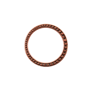 Copper Plate Jump Ring - Fancy Dotted 25mm
