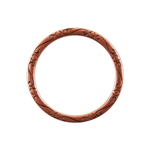 Copper Plate Jump Ring - Fancy Flourish 31mm