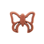 Copper Plate Jump Ring - Fancy Butterfly Pkg - 2