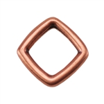 Copper Plate Jump Ring - Square Pkg - 2