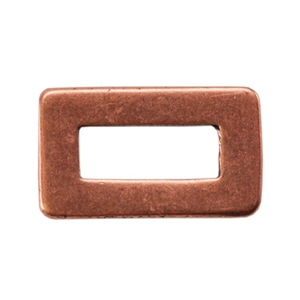 Copper Plate Jump Ring - Rectangle Small Pkg - 2