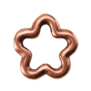 Copper Plate Jump Ring - Flower Small