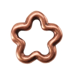 Copper Plate Jump Ring - Flower Small Pkg - 2