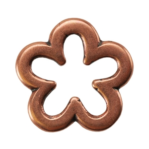 Copper Plate Jump Ring - Flower Medium