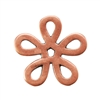 Copper Plate Jump Ring - Flower Large