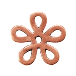 Copper Plate Jump Ring - Flower Large Pkg - 2