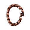Copper Plate Jump Ring - Locking Twisted Oval 7mm x 8.5mm