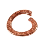 Copper Plate Jump Ring - Locking Stamped Round 12.5mm
