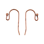 Antique Copper Earwires - 20mm with 2mm Ball