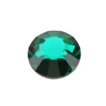 Crystal Emerald: Round Flat Back 6.6mm