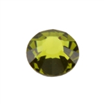 Crystal Olivine: Round Flat Back 6.6mm