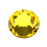 Crystal Citrine: Round Flat Back 7.4mm