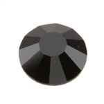 Crystal Jet Black: Round Flat Back 7.4mm