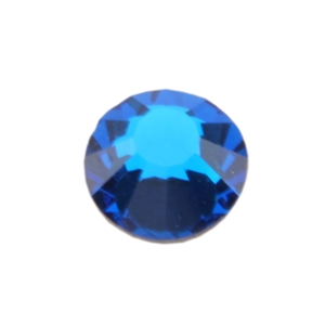 Crystal Blue Capri: Round Flat Back 6.6mm