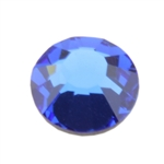 Crystal Sapphire: Round Flat Back 7.4mm