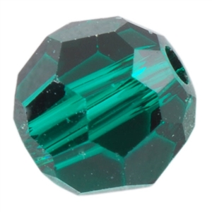 Crystal Emerald: Round 4mm