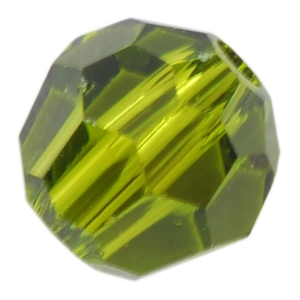 Crystal Olivine: Round 4mm