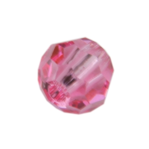 Crystal Rose: Round 4mm