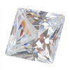 CZ: Square 2x2mm White 10 pc