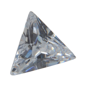 CZ: Triangle 6x6mm White 2 pc