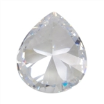 CZ: Pear 5x7mm White 5 pc