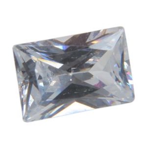 CZ: Baguette 4x6mm White 2 pc