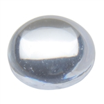 CZ: Cabochon Round 6mm White 5 pc