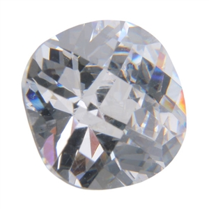 Cubic Zirconia - White Diamond - Cushion - Checkerboard