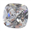 CZ: White Diamond - Cushion 10mm Pkg - 2