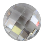 Cubic Zirconia - White Diamond - Round - Checkerboard 4mm