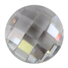 Cubic Zirconia - White Diamond - Round - Checkerboard 6mm