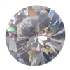 Cubic Zirconia - White Diamond - Round 9mm