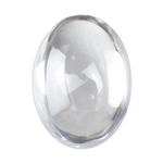 Cubic Zirconia - White Diamond - Cabochon Oval 8 x 10mm - Pak of 1