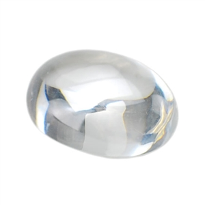 Cubic Zirconia - White Diamond - Cabochon Oval 12 x 16mm - Pak of 1