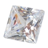 CZ: White Diamond - Square 3mm Pkg - 10