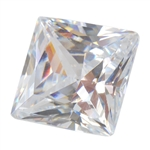 Cubic Zirconia - White Diamond - Square 9mm
