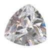 Cubic Zirconia - White Diamond - Trillion 8mm