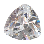 Cubic Zirconia - White Diamond - Trillion 10mm