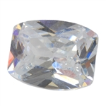 Cubic Zirconia - White Diamond - Barrel 8mm x 10mm